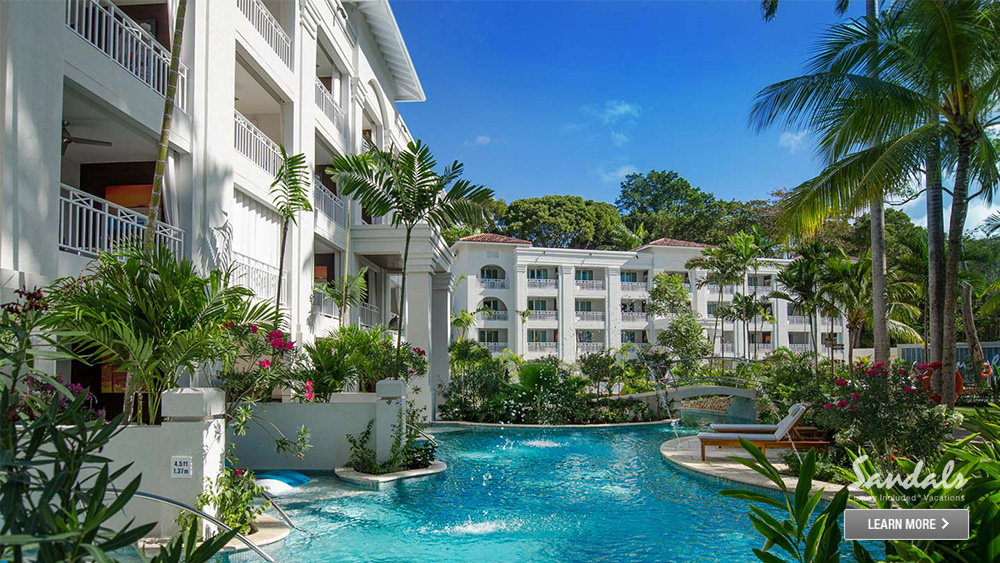 sandals barbados caribbean luxury hotel