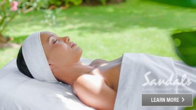 sandals inn relaxing spa