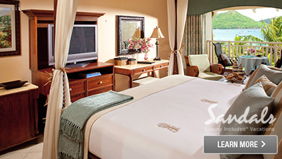 sandals saint lucian grande st. lucia best places to sleep