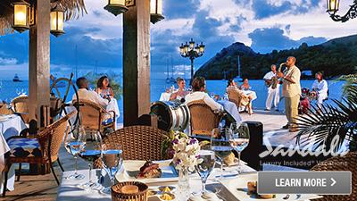 sandals saint lucian grande st. lucia best places to dine