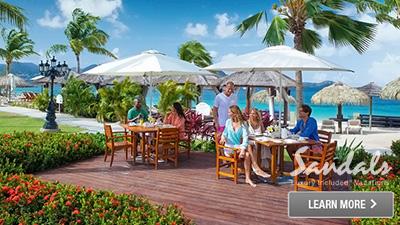 sandals saint lucian grande caribbean best places to eat