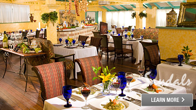 Sandals Halcyon Beach Saint Lucia top restaurants