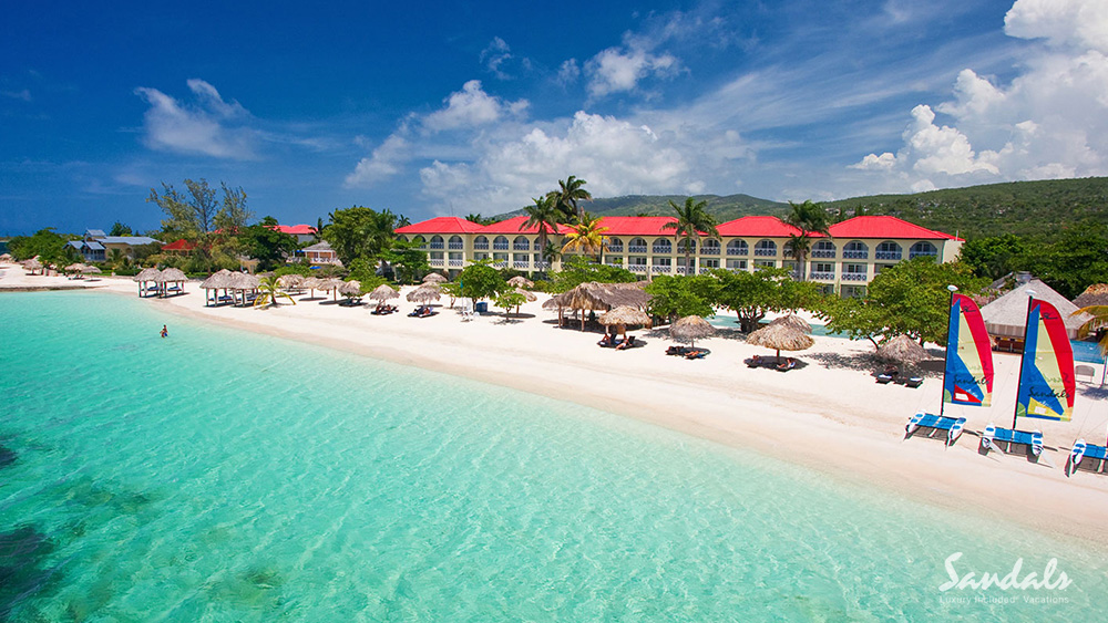 sandals montego bay caribbean beach vacation