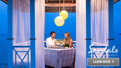 sandals coast south caribbean romantic dinners