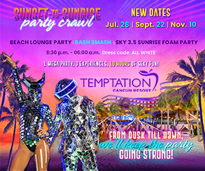temptation sunset-to-sunrise party crawl cancun mexico travel deals