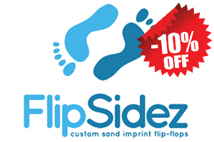 flipsidez sand print flip flops customized