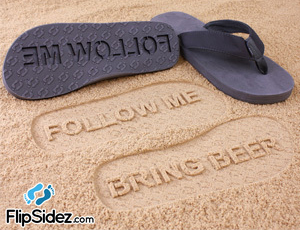 FlipSidez custom imprint sandals flips