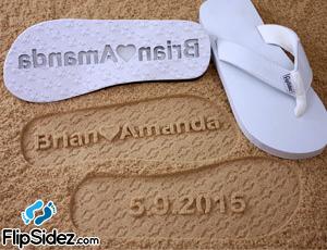 FlipSidez sand print flip flops love