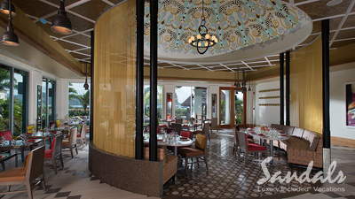 sandals saint lucian grande caribbean best places to dine