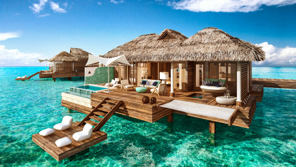 sandals royal caribbean overwater bungalows villas