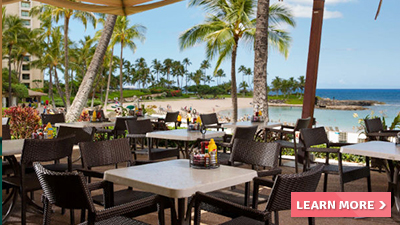 ko olina club beach hawaii best places to eat