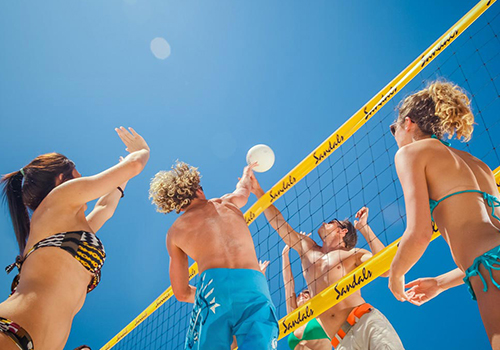 what to to do at sandals beach volleyball