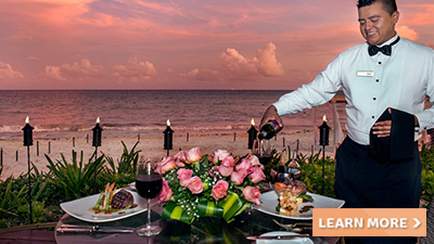 hilton playa del hotel carmen romantic dinner