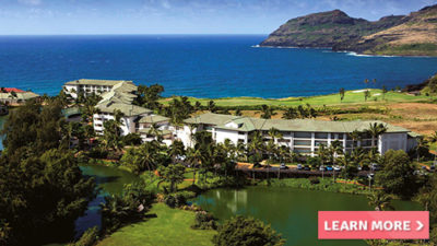 luxurious hotel marriott's kauai lagoons kalanipuu hawaii