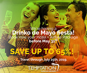 temptation drinko de mayo topless travel deals