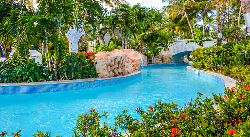 lazy rivers vacation caribbean iberostar hilton rose hall resort