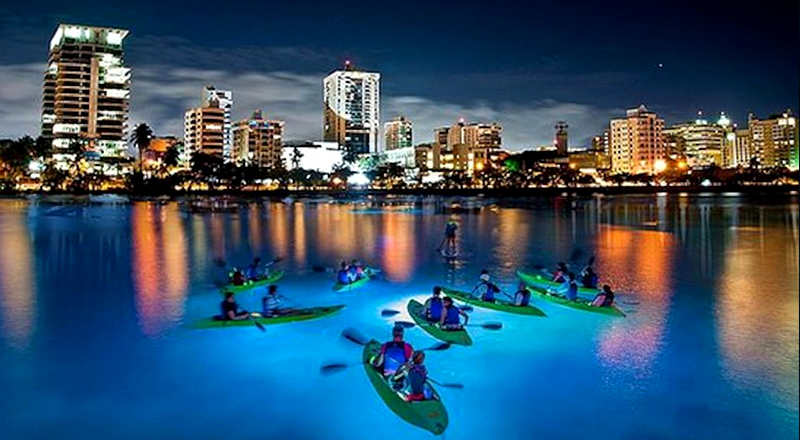what to do in san juan puerto rico led night kayak and sup condado lagoon