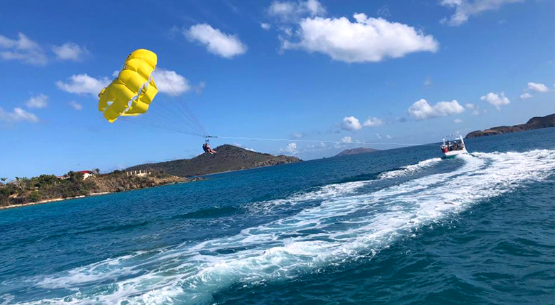 st. thomas fun things to do parasail experience