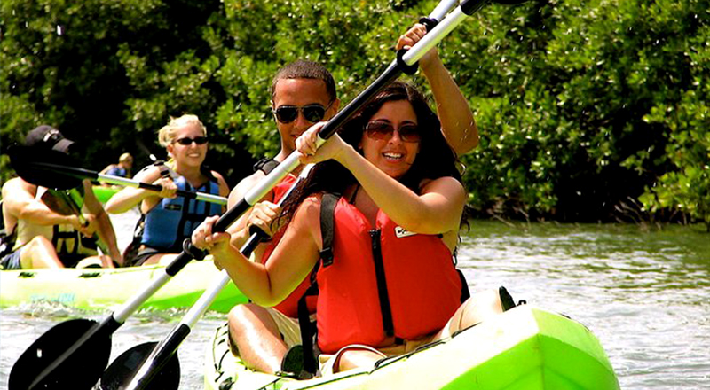 fun things to do in st. thomas mangrove lagoon kayak snorkel tour