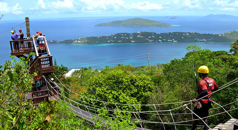 st. thomas extreme sports tree limin extreme zipline