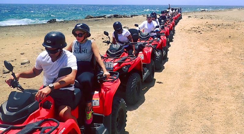 willemstad curacao fun things to do half day or full day atv adventure tour