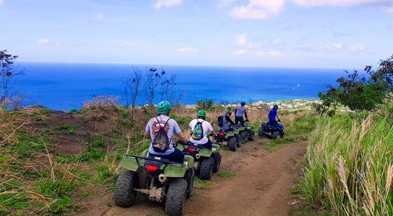 kittian village frigate bay fun things to do st kitts off road atv adventure