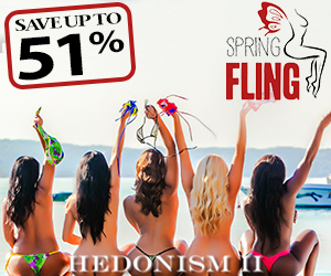 hedonism spring fling topless travel deals