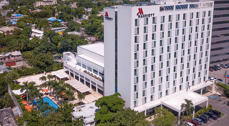 marriott port-au-Pprince hotel dog-friendly vacation in caribbean