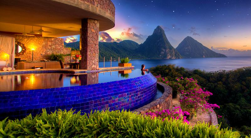 top caribbean hurricane-free resorts jade mountain resort st lucia luxury vacation