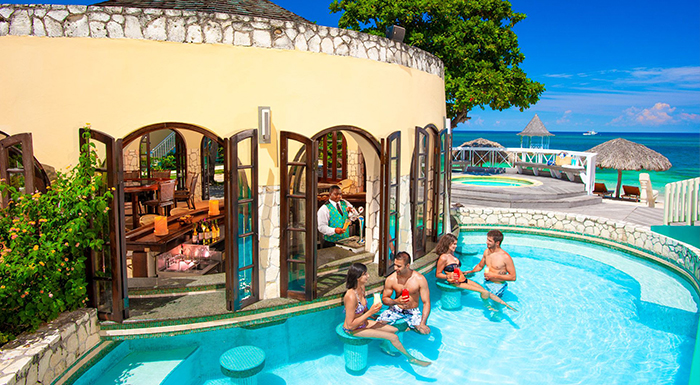 swim-up pool bars in the caribbean sandals montego bay