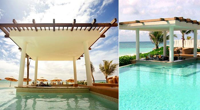 pool swim-up caribbean bars banyan tree mayakoba