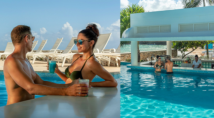 pool swim-up caribbean bars couples tower isle jamaica honeymoon
