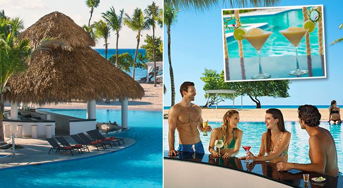pool swim-up caribbean bars dreams dominicus la romana resort and spa dominican republic