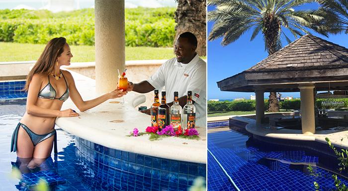 pool swim-up caribbean bars grace bay club turks & caicos islands
