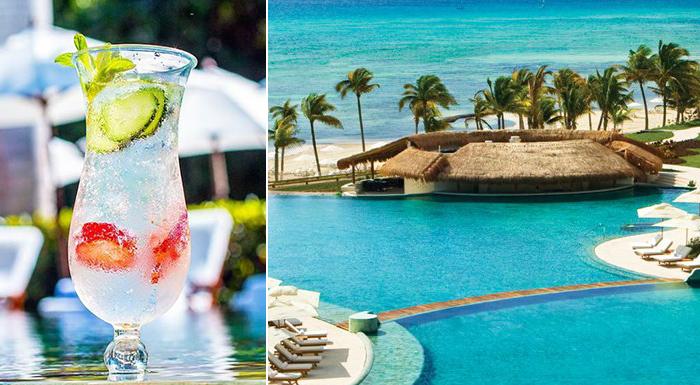 pool swim-up caribbean bars grand velas riviera maya in playa del carmen mexico
