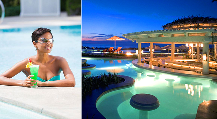 pool swim-up caribbean bars regent palms turks & caicos islands