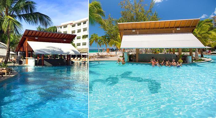 caribbean swim-up pool bars sandals barbados