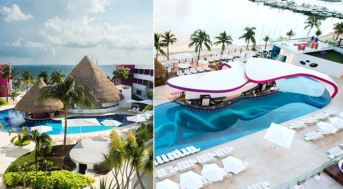 caribbean resorts with a swim-up pool bar temptation cuncun resort mexico clothing optional