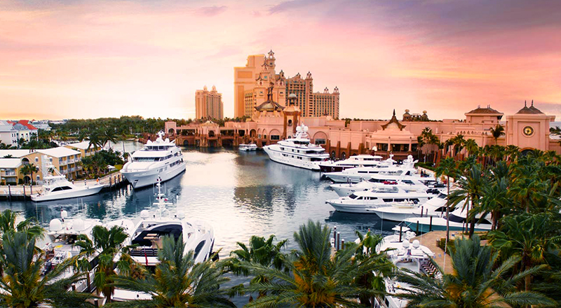 resorts at atlantis paradise island bahamas the marina yachts boating