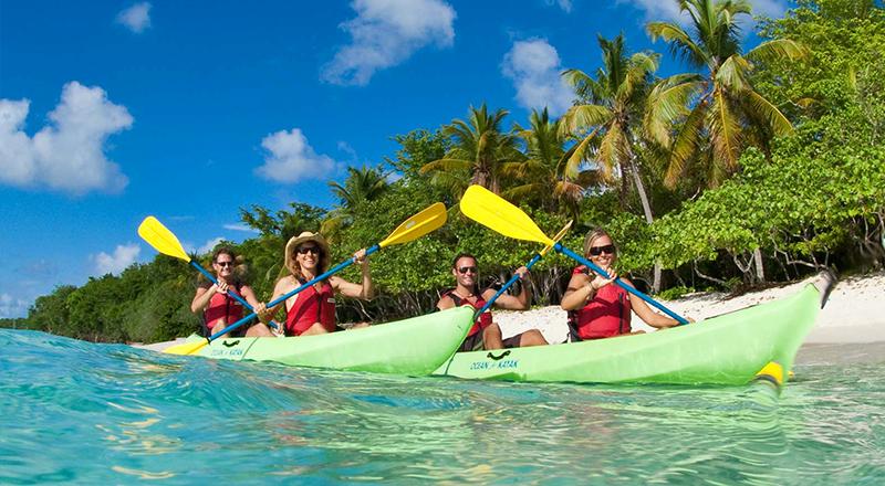caneel bay kayak hike and snorkel with sea turtles