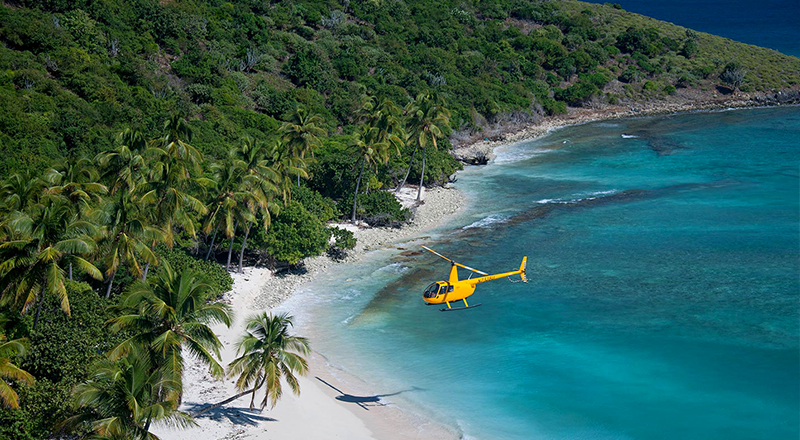 saint john us virgin islands helo sunshine aerial adventure