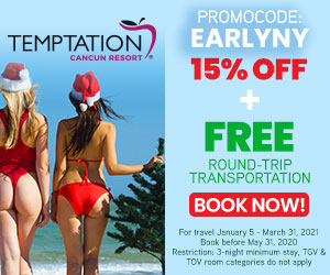 temptation early new years sale topless travel mexico deals