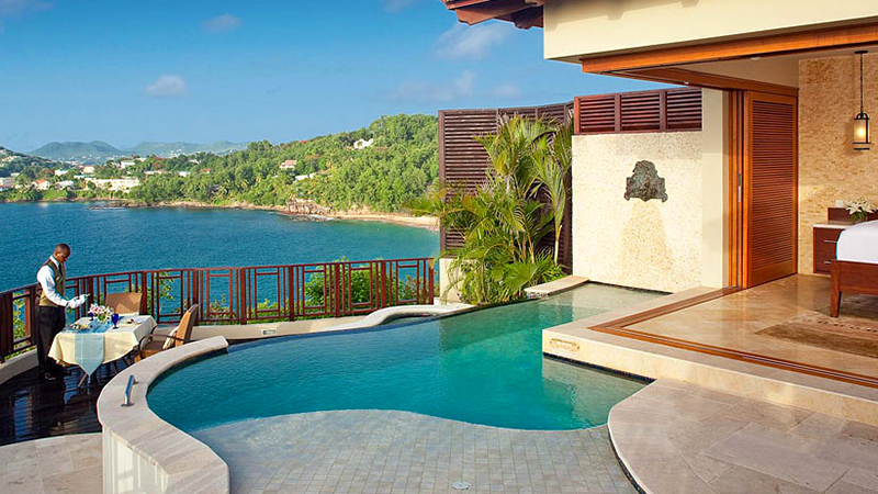 caribbean resorts with butler service sandals halcyon beach st lucia couples only getaway