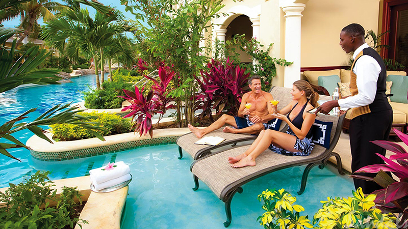 top caribbean resorts with butler service sandals royal caribbean jamaica adults travel