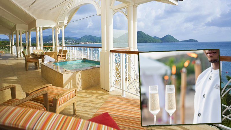 best butler service at caribbean resorts the landings resort and spa family vacation st lucia