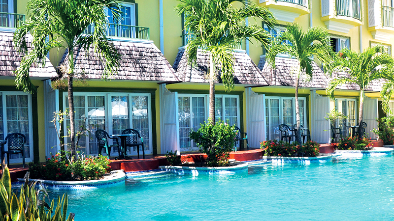 top caribbean resorts swim-up suites coco palm resort st lucia