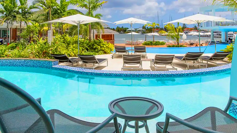 best caribbean resorts swim-up suites harbor club st lucia curio collection by hilton