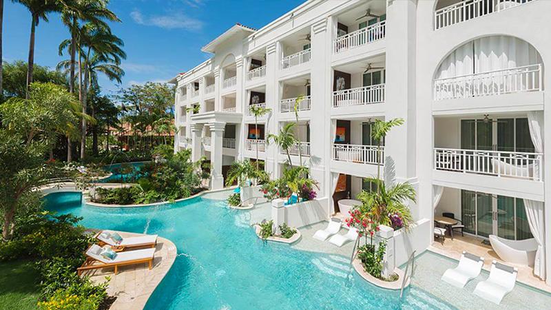 caribbean resorts suites sandals barbados