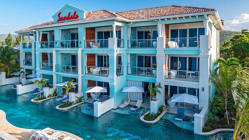caribbean resorts with swim-up suites jamiaca sandals montego bay