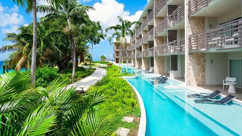 caribbean resorts swim-up suites sonesta ocean point resort sint maartin